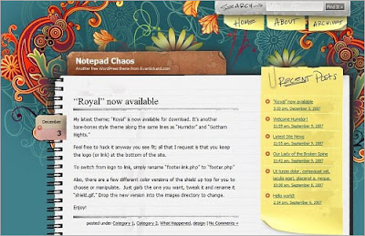 Notepad+Chaos Quality Free Blogger Templates + PSD Source Files