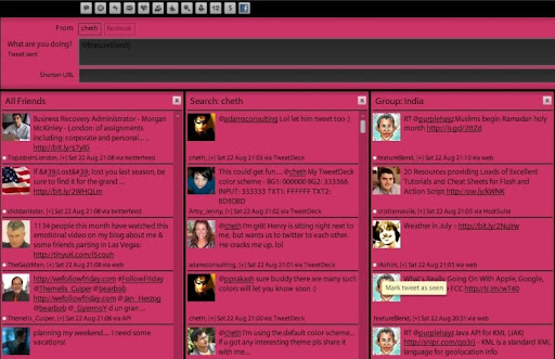 maroon Gorgeous TweetDeck Color Schemes