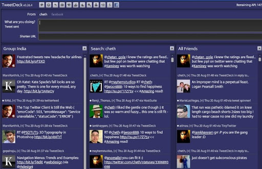 purple Gorgeous TweetDeck Color Schemes