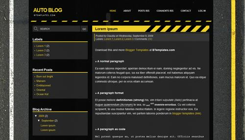 Auto Blog 40+ New and Fresh Blogger Templates