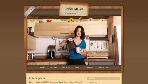 Coffee Maker 40+ New and Fresh Blogger Templates