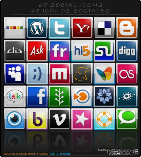 social+icons+download+%2827%29 Social Network Icons Reloaded