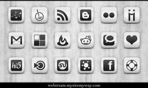 socialicon9 Social Network Icons Reloaded