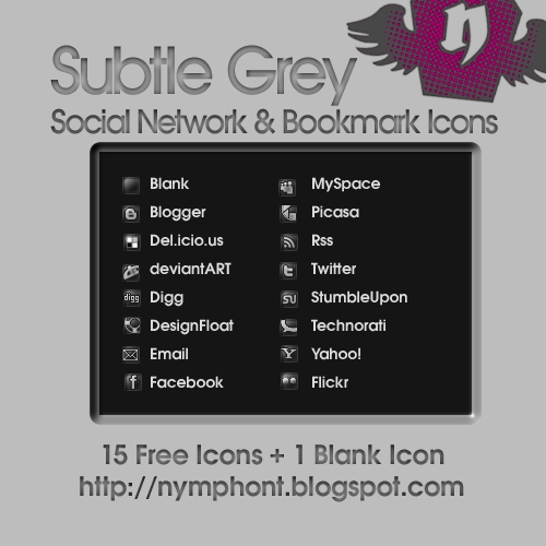 SubtleGreyIcons Social Network Icons Reloaded