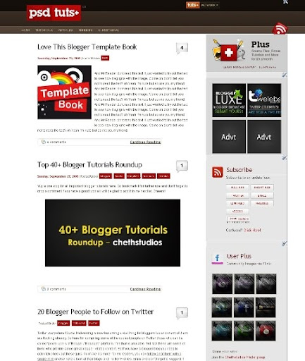 psdtuts+blogger Recreating the PSDTUTS WordPress theme on Blogger Platform