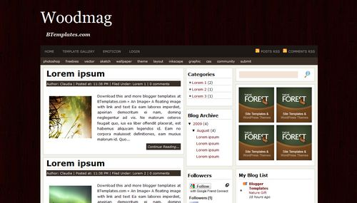 Woodmag Mindblowing Premium Like Free Blogger Templates