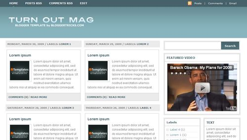 turnoutmagazine Mindblowing Premium Like Free Blogger Templates