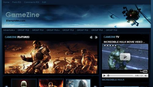 gamezine Mindblowing Premium Like Free Blogger Templates