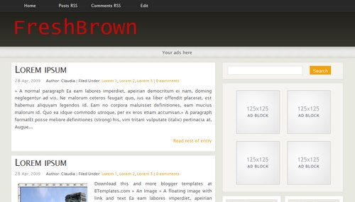 freshbrown Mindblowing Premium Like Free Blogger Templates