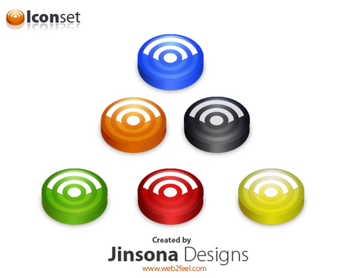 jinsona Fresh, Free and Gorgeous RSS/Feed Icons
