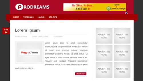 ProDreams Mindblowing Premium Like Free Blogger Templates