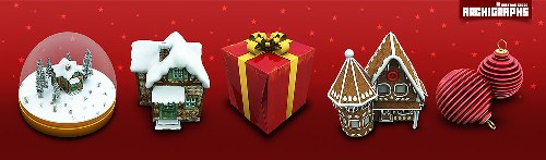 Archigraphs Christmas icons by Cyberella74 Design + Christmas = oh my! Inspirational Resources!