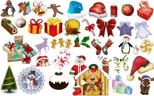 180 Christmas PNG files by EvergreenMashi Design + Christmas = oh my! Inspirational Resources!