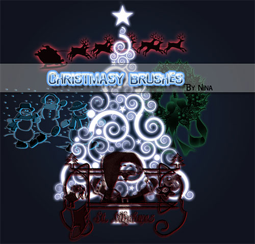 christmas+brushes+%281%29 Design + Christmas = oh my! Inspirational Resources!