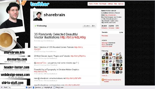 sharebrain Inspiration Reloaded!   44 Best Twitter Background Themes