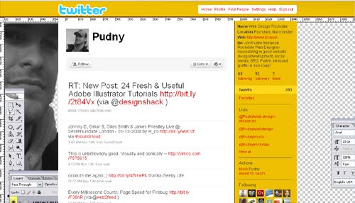 Pudny Inspiration Reloaded!   44 Best Twitter Background Themes