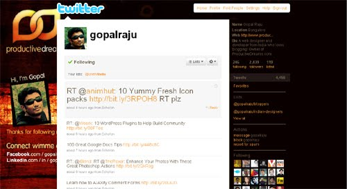 gopalraju Inspiration Reloaded!   44 Best Twitter Background Themes