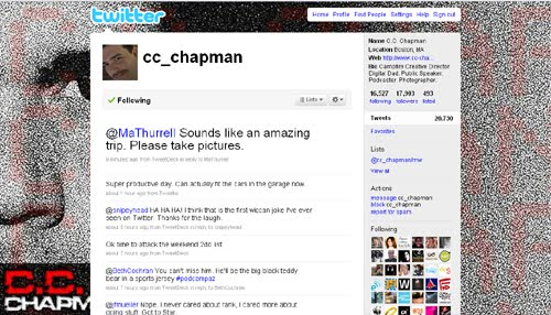cc chapman Inspiration Reloaded!   44 Best Twitter Background Themes
