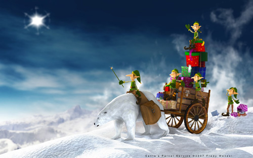 santa parcel service 40 Gorgeous High Quality Christmas Wallpapers