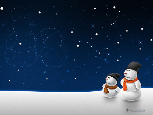 Snow man snow child by vladstudio 40 Gorgeous High Quality Christmas Wallpapers