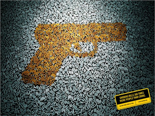 Smoking+Kills+300+Times+More+People+Than+Crime 65 Creative Anti Smoking Ad Campaigns Dedicated to World No Tobacco Day