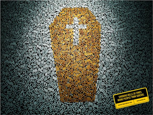 Smoking+Kills+20+More+People+Than+Suicide 65 Creative Anti Smoking Ad Campaigns Dedicated to World No Tobacco Day