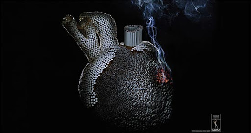 Cigarettes+Heart 65 Creative Anti Smoking Ad Campaigns Dedicated to World No Tobacco Day