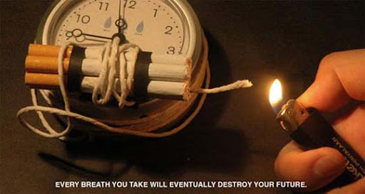 Every+breath+you+take+will+destroy+your+future 65 Creative Anti Smoking Ad Campaigns Dedicated to World No Tobacco Day
