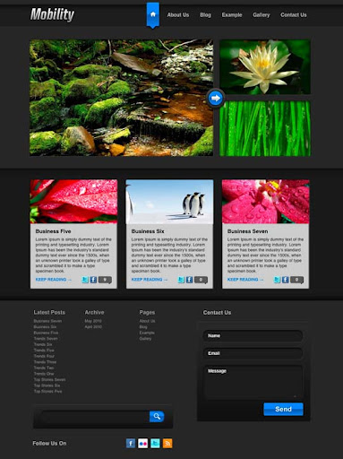 Mobility Fresh Premium Wordpress Themes Designed in 2010