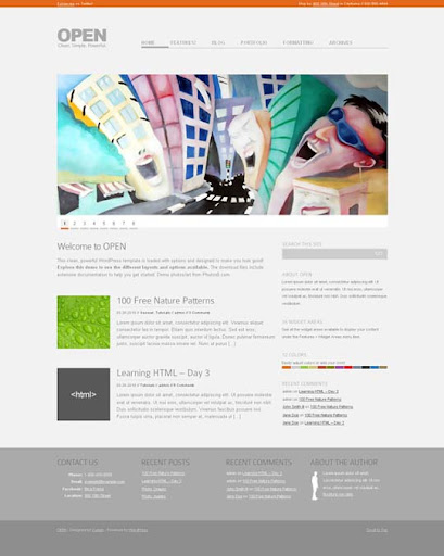 open Fresh Premium Wordpress Themes Designed in 2010