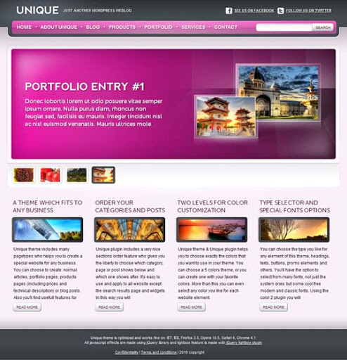 Unique Fresh Premium Wordpress Themes Designed in 2010