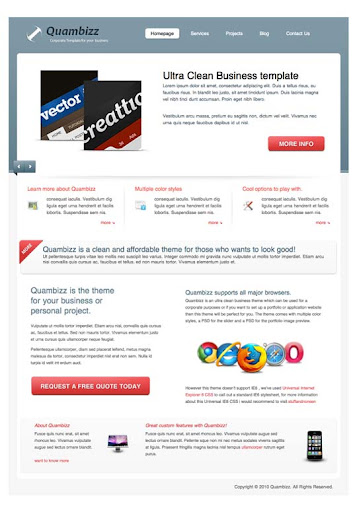 Quambizz Fresh Premium Wordpress Themes Designed in 2010