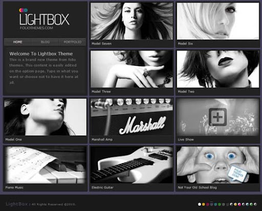 lightbox Fresh Premium Wordpress Themes Designed in 2010