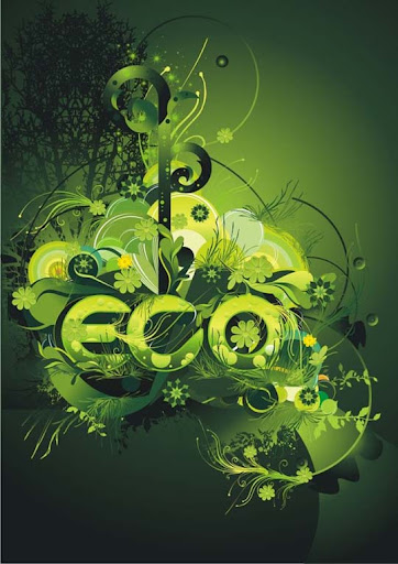 eco environment by dronograph Spectacular Examples of Typography / Text Art