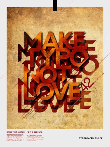 MAKE TYPO NOT LOVE by palax Typography Brilliance: To Make you say Wow #2