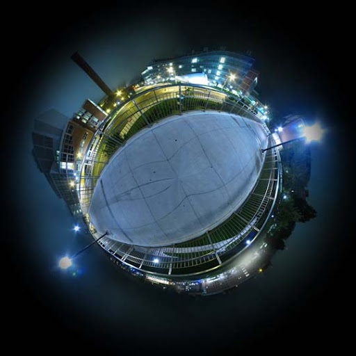Mini Planet   Ann Arbor Night by electricjonny Mesmerising Planet Panoramic Photography