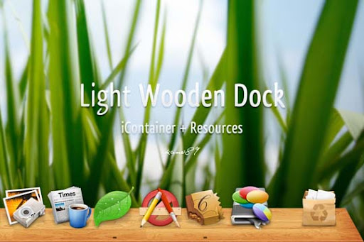 Light Wooden Dock by kano89 30+ Fresh Dock Icons For Mac Customization