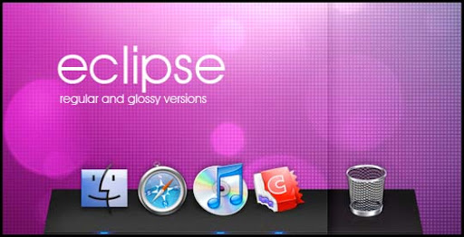 Eclipse by Thvg 30+ Fresh Dock Icons For Mac Customization