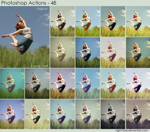 photoshop actions   48 by night fate The Ultimate Collection Of 500+ Useful Free Photoshop Actions