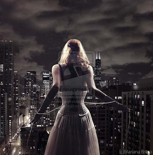 Alone by Skategirl 40 Examples of Emotional Female Photomanipulation Art