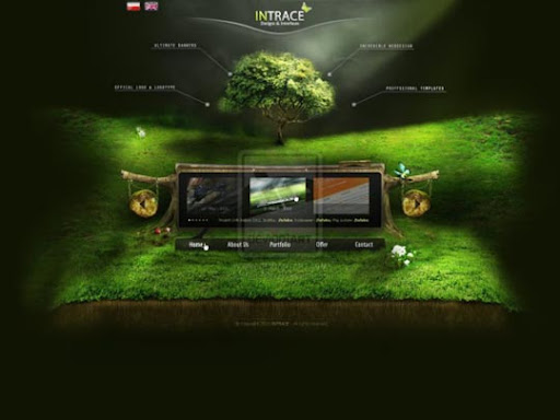 INTRACE+offical+portfolio 40 Gorgeous Portfolio Web Interface Designs You Must See