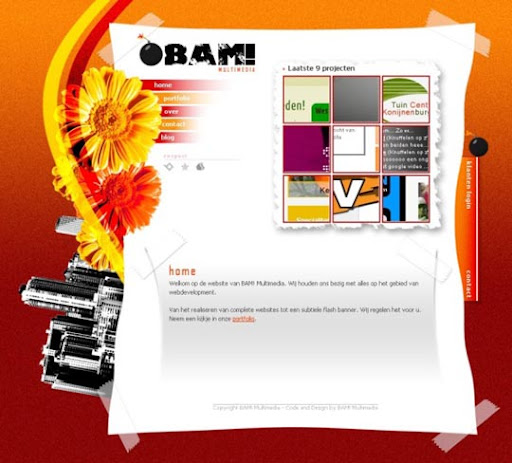 Final+Portfolio+Site+by+%7EBAM Multimedia 40 Gorgeous Portfolio Web Interface Designs You Must See