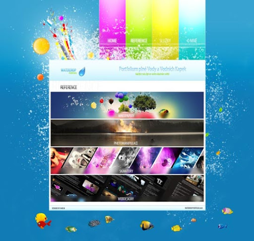 WaterDrop+Webdesign+Portfolio+by+%7ED4rK3N 40 Gorgeous Portfolio Web Interface Designs You Must See