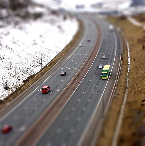 Motorway 50+ Beautiful Examples of Tilt Shift Photography