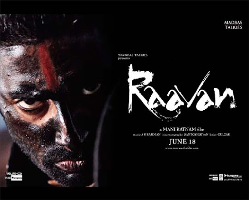 raavan 30+ Creative Bollywood Movie Posters | Design Inspiration