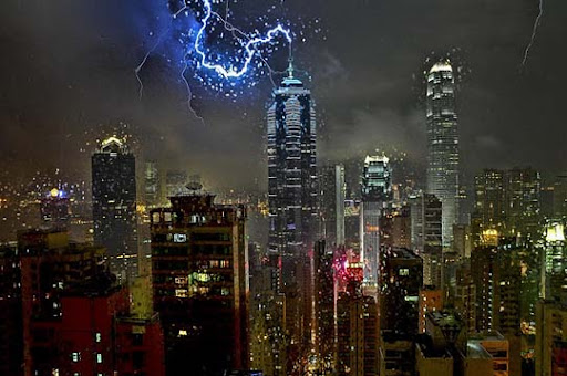 Soho,+Hong+Kong,+Hong+Kong+Island,+HK Striking and vivid Examples of Lightning Photography