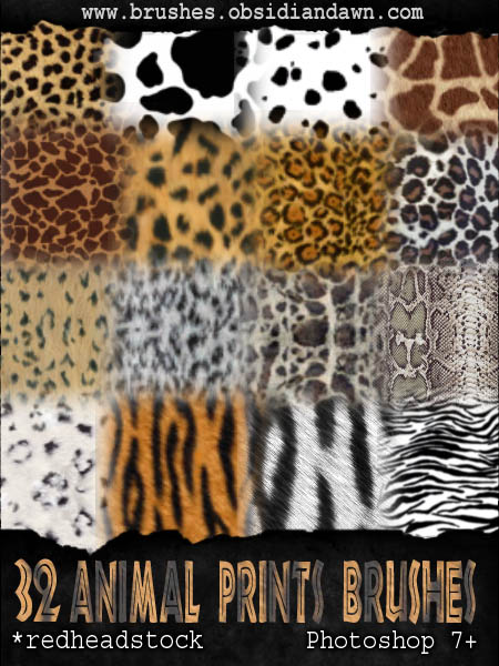 GIMP Animal Prints Brushes by Project GimpBC 1500+ Free GIMP Brushes Packs for Download