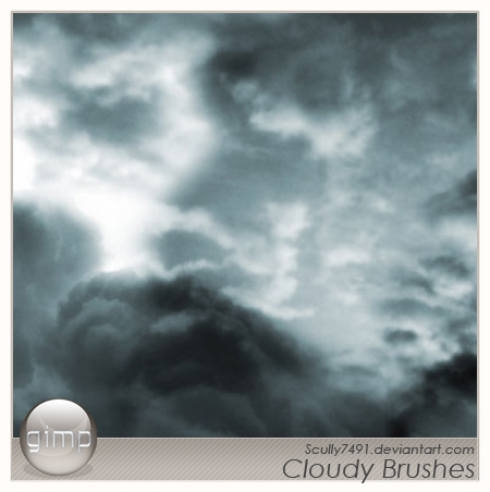 Cloudy Brushes version Gimp by Scully7491 1500+ Free GIMP Brushes Packs for Download