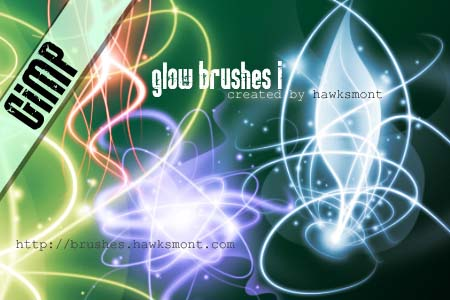 glow1 gimp brushes by hawksmont 1500+ Free GIMP Brushes Packs for Download