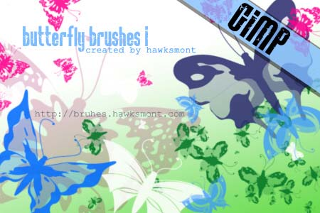 butterfly1 gimp brushes by hawksmont 1500+ Free GIMP Brushes Packs for Download